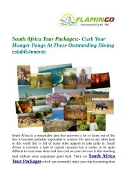 Get attractive deals on South Africa Tour Packages
