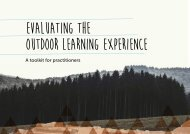 EVALUATING THE OUTDOOR LEARNING EXPERIENCE
