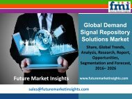 Demand Signal Repository Solutions Market Analysis, Segments, Growth and Value Chain 2016-2026