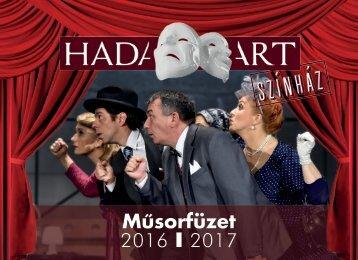 HADART Színház - Műsorfüzet 2016-2017