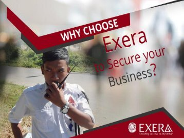 Exera - Your Choice of Security Service in Myanmar