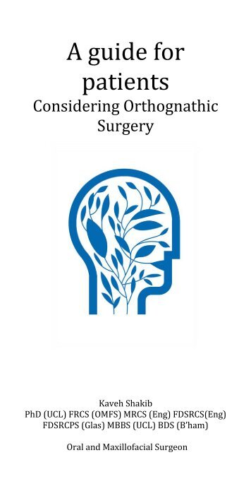A guide for patients considering orthognathic jaw surgery