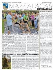 Mazsalacas novada ziņas 09.2016.