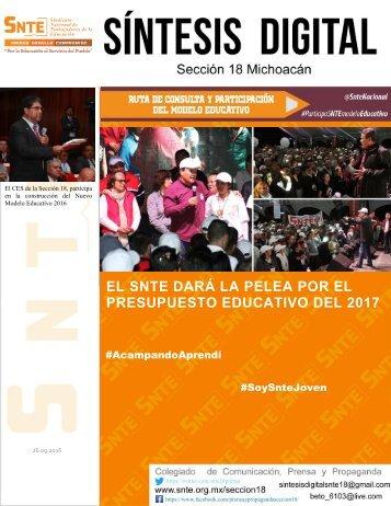 EL SNTE DARÁ LA PELEA POR EL PRESUPUESTO EDUCATIVO DEL 2017