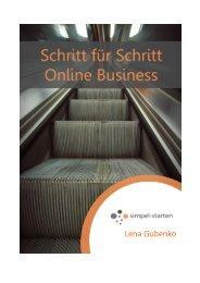 Schritt für Schritt online Business