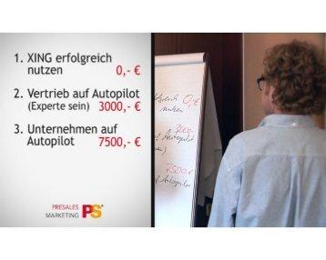 PreSales Marketing: Ihr Vertrieb auf Autopilot!