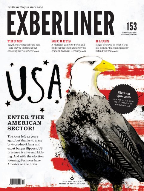 EXBERLINER Issue 153, October 2016