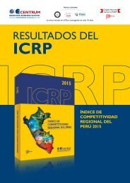 Folleto Índice de Competitividad Regional del Perú 2015