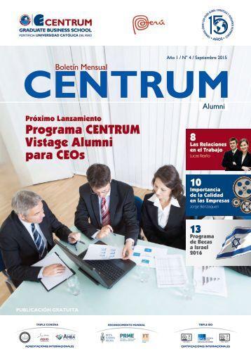 Boletín ALUMNI N° 4 - septiembre 2015