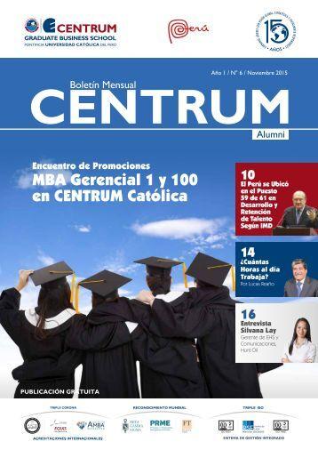 Boletín ALUMNI N° 6 - noviembre  2015