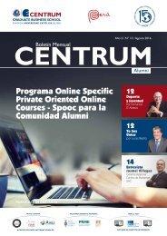 Boletín ALUMNI N° 13 - agosto  2016