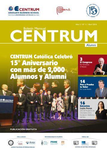 Boletín ALUMNI N° 11 - abril  2016