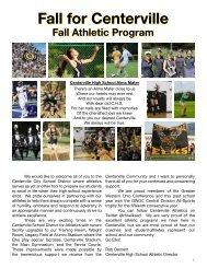 2016 Fall Sports Program Book