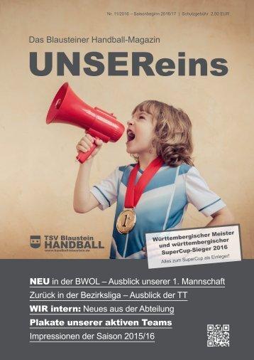 UnserEins – Ausgabe 1 2016/17