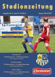 20161001 Stadionzeitung TSV Babenhausen - TG Viktoria Augsburg