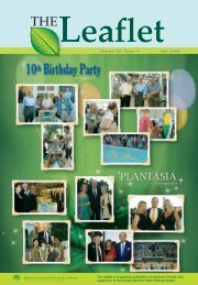THE Volume 10, Issue 4 Fall 2008 - The Donald Danforth Plant ...
