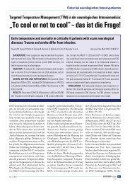 TTM in der neurologischen Intensivmedizin