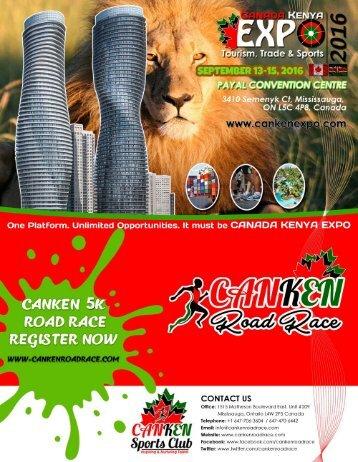 CanKen Road Race & Canada Kenya International EXPO Brochure