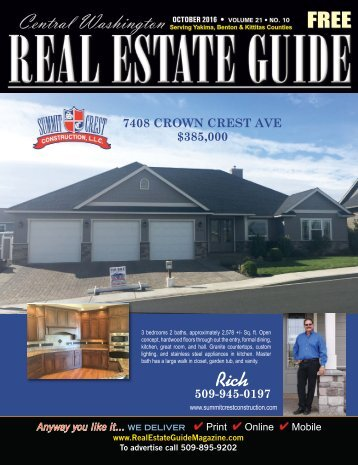 Central Washington Real Estate  Guide Magazine Oct 16
