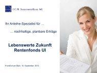 Lebenswerte Zukunft - I.C.M. Independent Capital Management AG