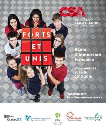 CSA Programmes et tarifs 2017-2018