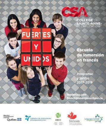 CSA Programas y tarifas 2017-2018