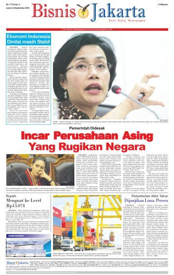 Bisnis Jakarta 23 September 2016