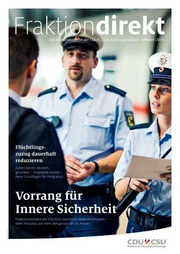 Fraktion direkt - Das Magazin   Ausgabe 10/2016