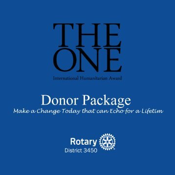 THE ONE DONOR PACK