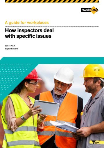 How inspectors deal with specific issues