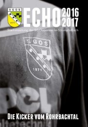 SGOS ECHO 2016/2017 - Die Kicker vom Rohrbachtal