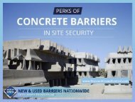 Awesome Benefits of Concrete Barriers