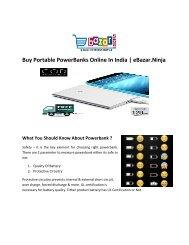 Buy Powerbank Online In India - eBazar.Ninja