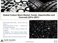 Sample Global Carbon Black Market Trends, Opportunities and Forecasts (2016-2021)