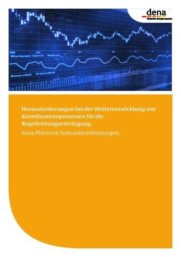 Herausforderungen bei der Weiterentwicklung von Koordinationsprozessen für die Regelleistungserbringung