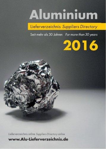 LESEPROBE - Aluminium Lieferverzeichnis 2016