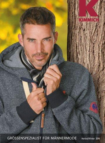 Kimmich Mode-Versand | Größenspezialist für Männermode | Herbst/Winter 2016