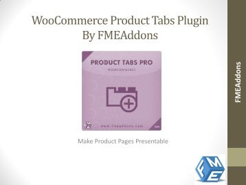 Add Product Tabs in WooCommerce