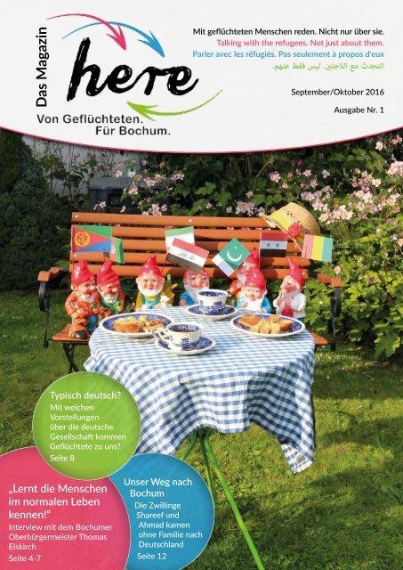 here – Das Magazin. Von Geflüchteten. Für Bochum – Ausgabe 1