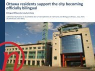 Ottawa residents support the city becoming officially bilingual
