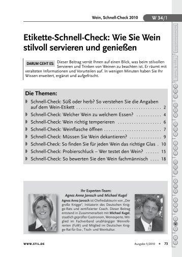 Etikette-Schnell-Check: Wie Sie Wein stilvoll servieren und ... - Stil.de