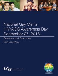 National Gay Men's HIV/AIDS Awareness Day September 27 2016
