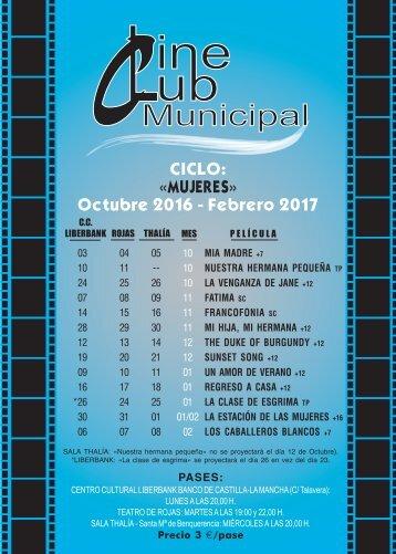 CICLO «MUJERES» Octubre 2016 - Febrero 2017