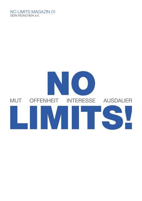 DEIN MÜNCHEN _ NO LIMITS! Magazin 01