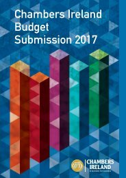 Chambers Ireland Budget Submission 2017