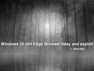 Windows 10 x64 Edge Browser 0day and exploit