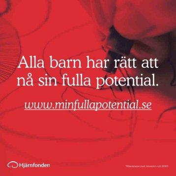 Alla barn har rätt att nå sin fulla potential