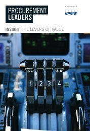 INSIGHT THE LEVERS OF VALUE