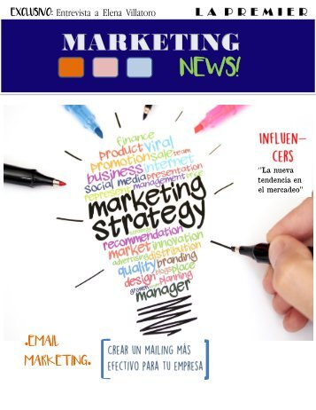 Revista digital, influencers y mailing SR.