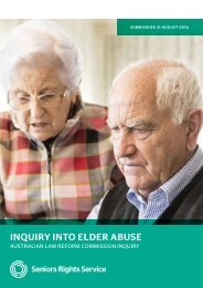 INQUIRY INTO ELDER ABUSE